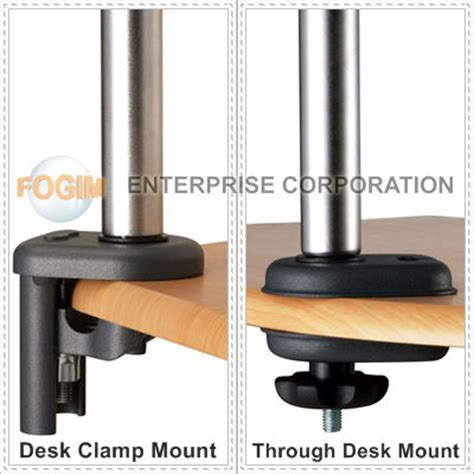 Through Desk Monitor Mount by Space Generator Dual Lcd Monitor Arm Desk Cl Grommet
