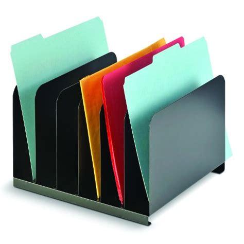 File Folder Racks Holders by Vertical Desktop File Organizer 6 Compartment Steel