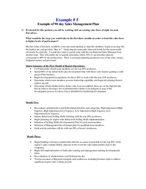 sales manager business plan template 30 60 90 day sales plan template l vusashop