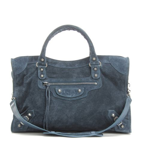 And The Citytote by Balenciaga Classic City Suede Tote In Blue Lyst