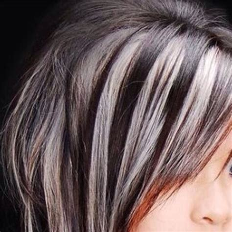 grey highlights in brown hair when the gray takes over hair pinterest gray