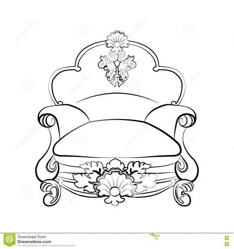 poltrona reale poltrona reale imperiale illustrazione vettoriale
