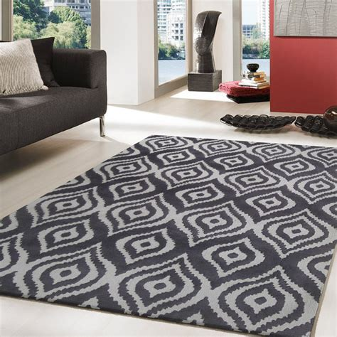 Modern Area Rugs For Living Room by 5 X 7 Ft Charcoal Grey Tufted Living
