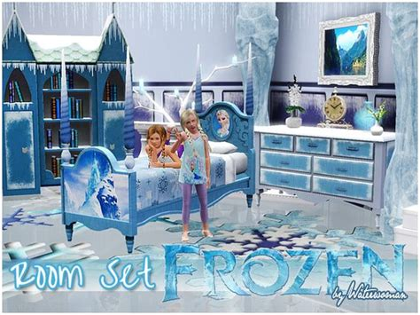 Frozen Bedroom Furniture Frozen Room Set By Waterwoman Free Sims 3 Furniture Downloads Akisima Custom Content Caboodle