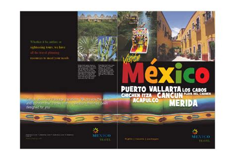 Mexico Travel Print Template Pack From Serif Com Mexico Brochure Template