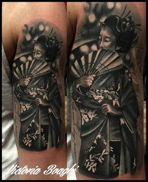 arm japanische geisha tattoo von victoria boaghi
