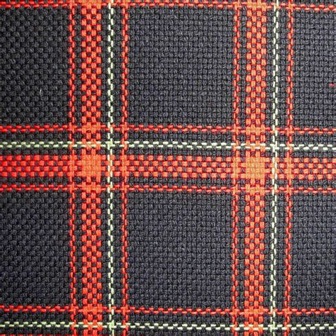 upholstery by linear yard red black green plaid
