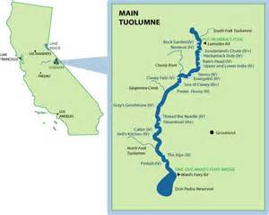 california river map tuolumne river mile by mile map