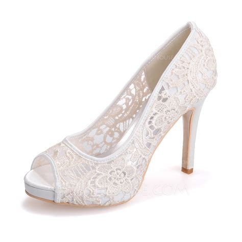 Lace Peep Toe Heel Sandals s lace stiletto heel peep toe platform sandals