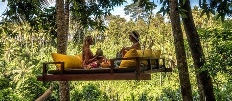 Tree Swing Chair Forest Spa At Kamandalu Ubud Bali
