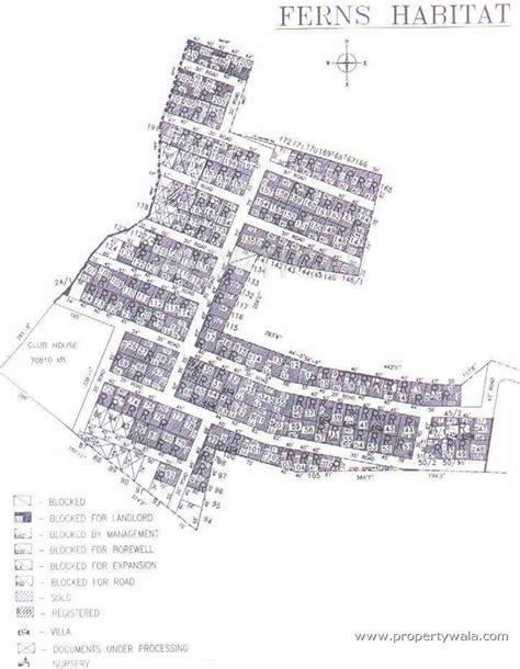 layout plan approval bangalore ferns habitat in mahadevapura bangalore price location