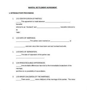 Marital Separation Agreement Template divorce agreement template 11 free word pdf documents download