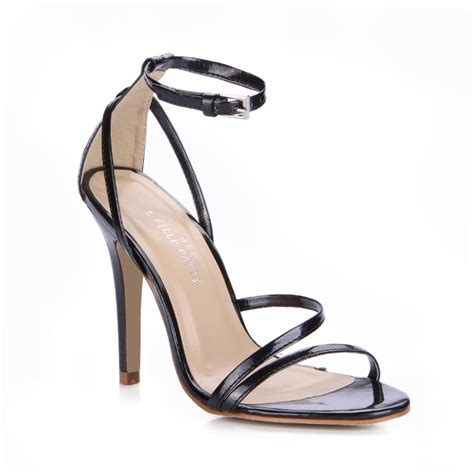 High Heels Import Shh779830 import leather black sandals tacones 10 cm high heels size 35 43 shoes zapatos