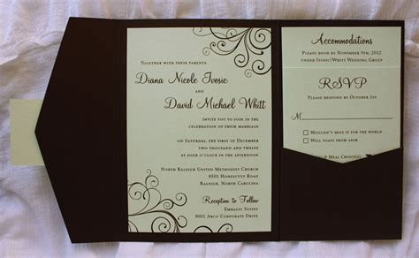 Brown Wedding Invitations by Brown Wedding Invitations Matik For