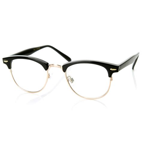 Frame Half by New Original Rx Optical Classical Clear Lens Half Frame
