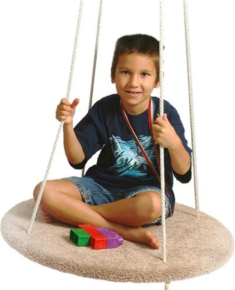 Carpeted Round Platform Swing Swings E Special Needs