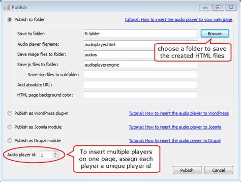 tutorial html5 wordpress html5 audio player tutorial publish html5 audio player