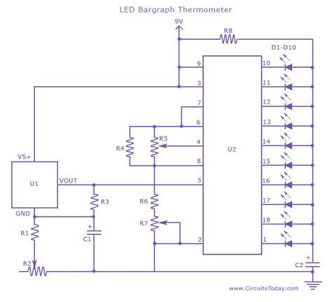 led temperature indicator circuit lm3914 led temperature indicator circuit lm3914 28 images led temperature indicator circuit lm3914