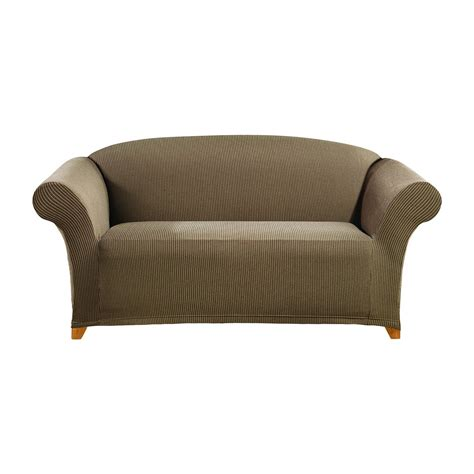 sure fit stretch sofa slipcover stretch ticking stripe loveseat slipcover sure fit ebay