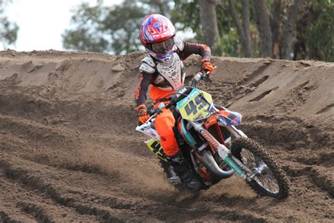 is there a motocross race today lawrence and larwood impress in ajmx qualifying dirt action