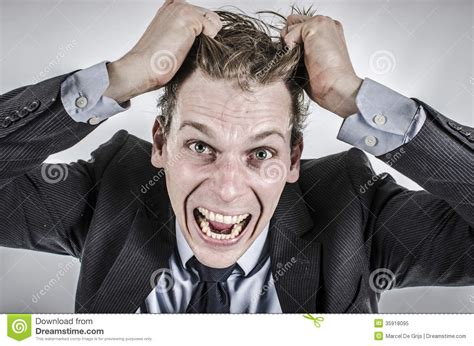 Getting Hair Out Of by Businessman Going Royalty Free Stock Photo Image
