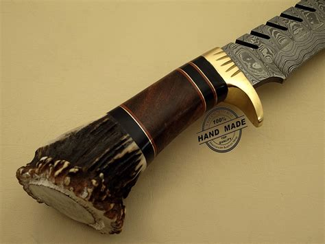 custom knives damascus bowie knife custom handmade damascus steel