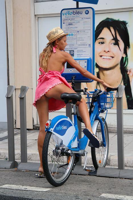 Pantyless On Bike Upskirt Girl World How We