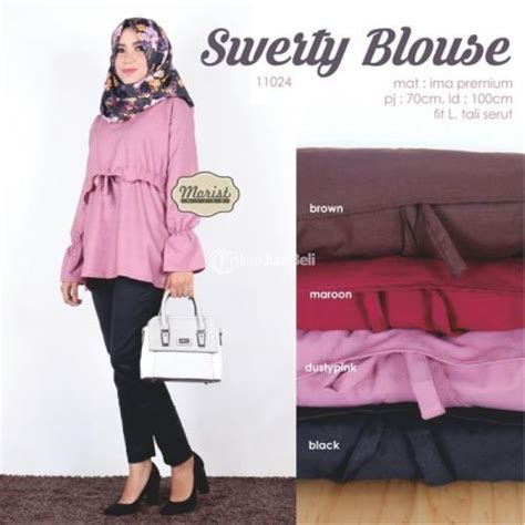 Baju Murah Atasan Cewek Tunik Rasela Harga Murah Modie Best Seller swerty blouse baju atasan wanita kekinian model terbaru