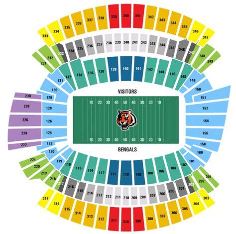 cincinnati bengals stadium seating official cincinnati bengals coa marketplace buy sell