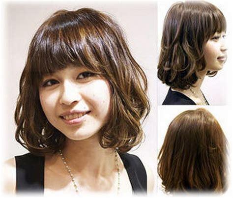 korean hairstyle for round face with bangs korean medium hairstyle