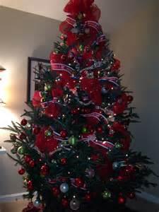 deco mesh and ribbon tree christmas pinterest