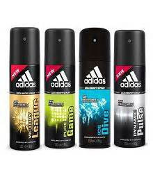 adidas deodorants for men combo pack of 4 assorted deodorants buy deodorants for men online at best prices