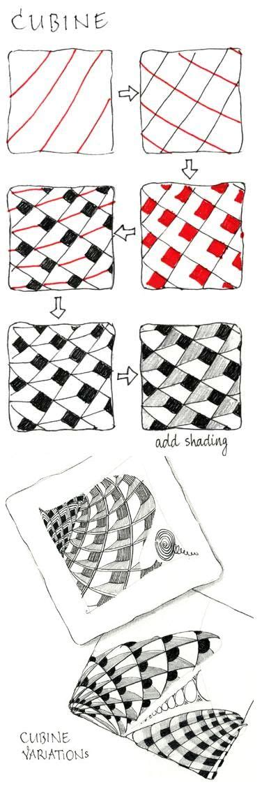 zentangle pattern cubine via pinterest image 2339141 by maria d on favim com
