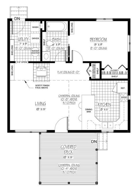 c humphreys housing floor plans house plan 9939 00001 cabin plan 728 square feet 1
