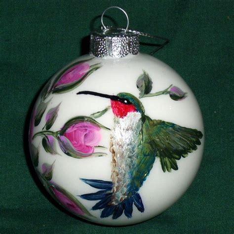 homemade hummingbird ornaments ruby throated hummingbird and glass ornament painted ruby throated