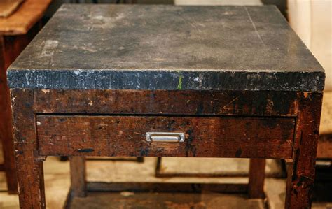 bluestone top work table late 19th century at 1stdibs