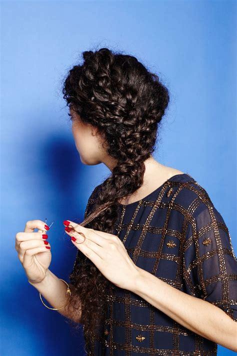 pin curl braids how to braid curly hair cute plait styles curly hair