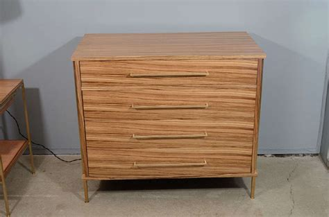 Zebra Wood Dresser by Regeneration Zebra Wood Dresser With Brass Details At 1stdibs
