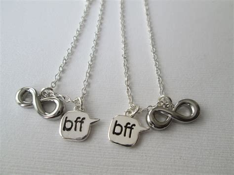 infinity bff necklace bff necklace 2 infinity necklaces wedding gift keepsake