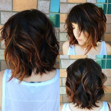 how to curl bangs wiki how to get the wavy choppy look hairstylegalleries com
