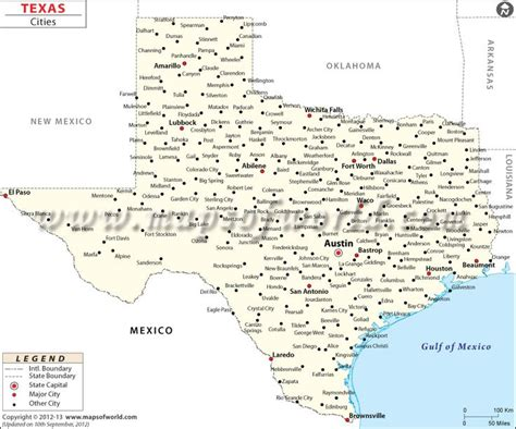 texas map and cities texas map by city