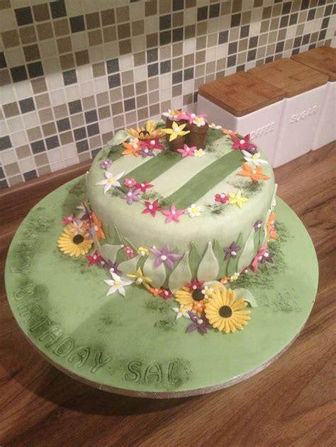 Flower Garden Cake Cakes Pinterest Flower Garden Birthday Cake Kerry S Cakes Pinterest