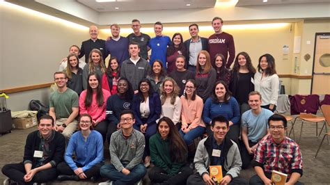 Fordham Weekend Mba by Gabelli School Gathers Student Leaders At Jesuit Business