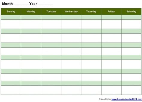 Free Monthly Calendar Templates Print Blank Calendars Free Downloadable Calendar Template