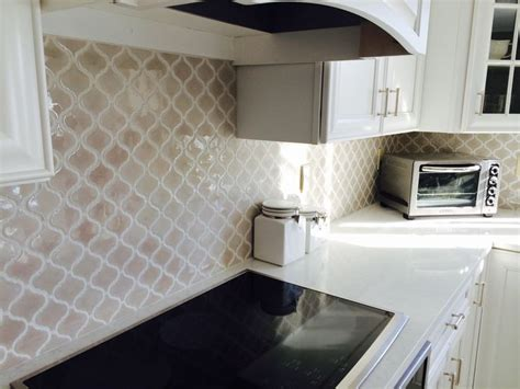 Home Depot Backsplash For Kitchen Fog Arabesque Backsplash Tile From Home Depot Design By