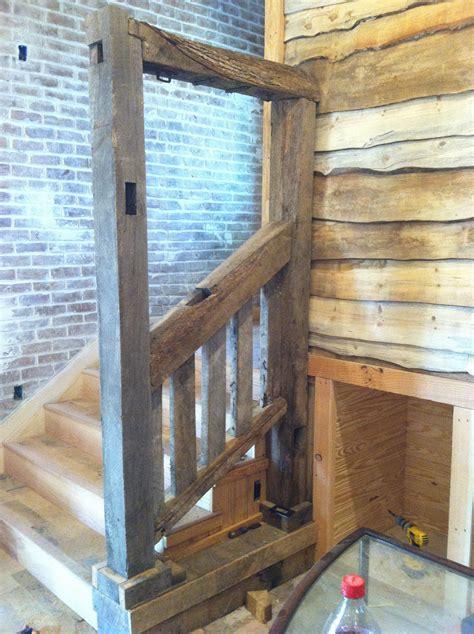 barn wood hand rail barn wood projects  barn