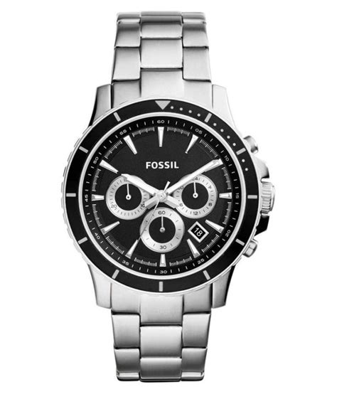 Fossil Chronograph Silver 1 fossil end of season briggs silver chronograph s