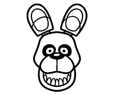 imagenes para colorear fnaf dibujo de golden freddy de five nights at freddy s para