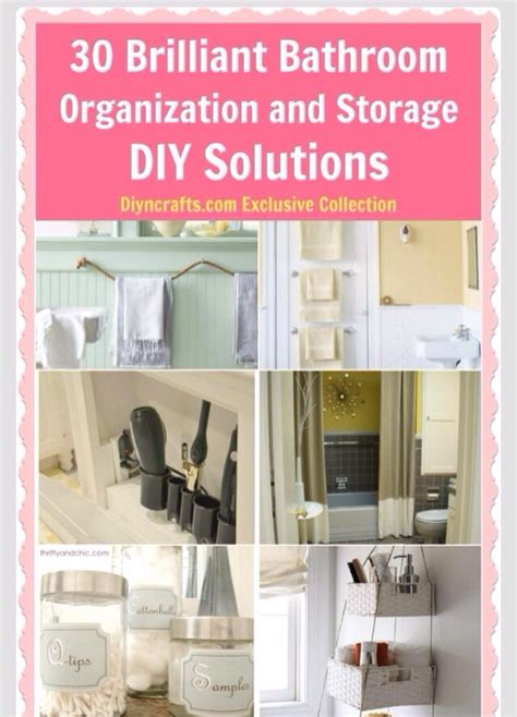 diy solutions 30 brilliant bathroom organization and storage diy