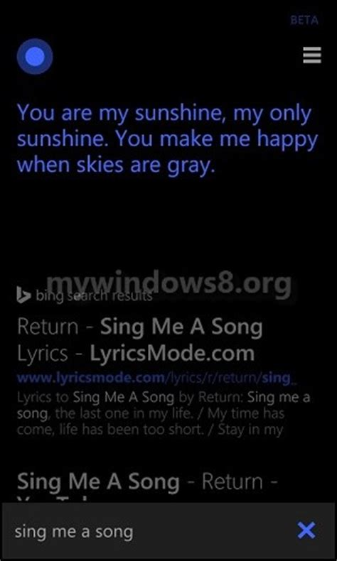 Sing Your Favorite Song Cortana | cortana tips bunch of interesting and funny things she